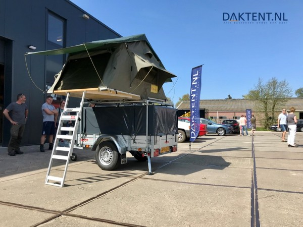 Daktent trailer opbouw
