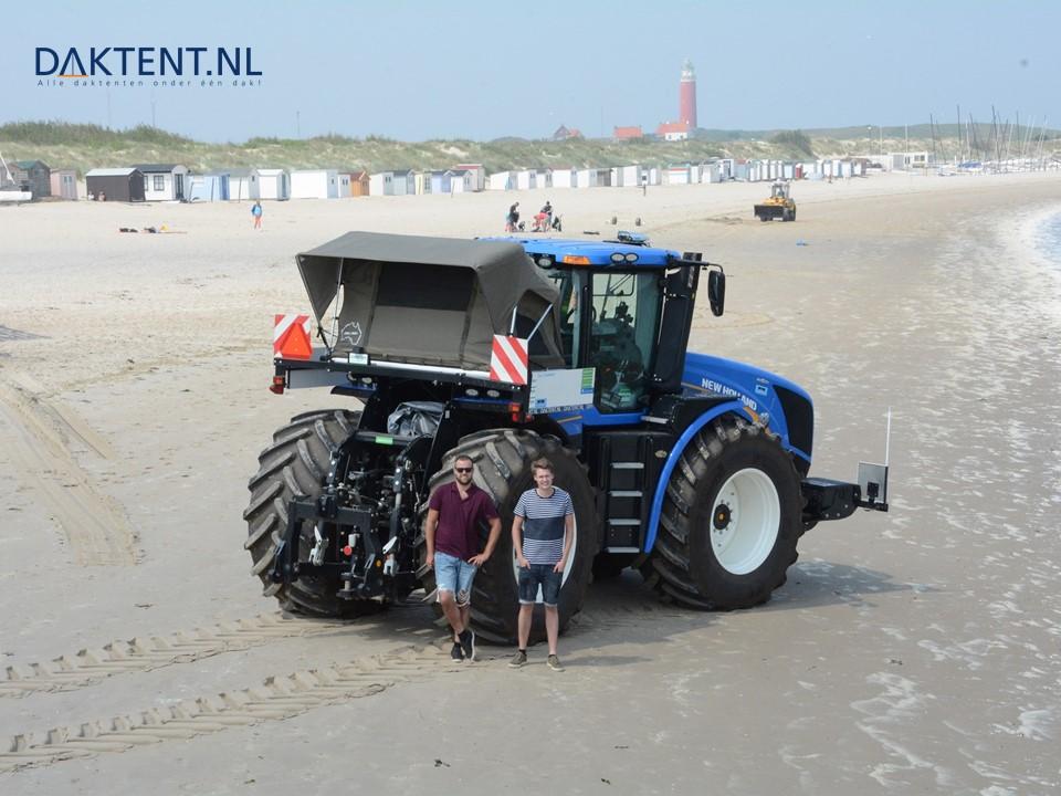 Daktent op tractor