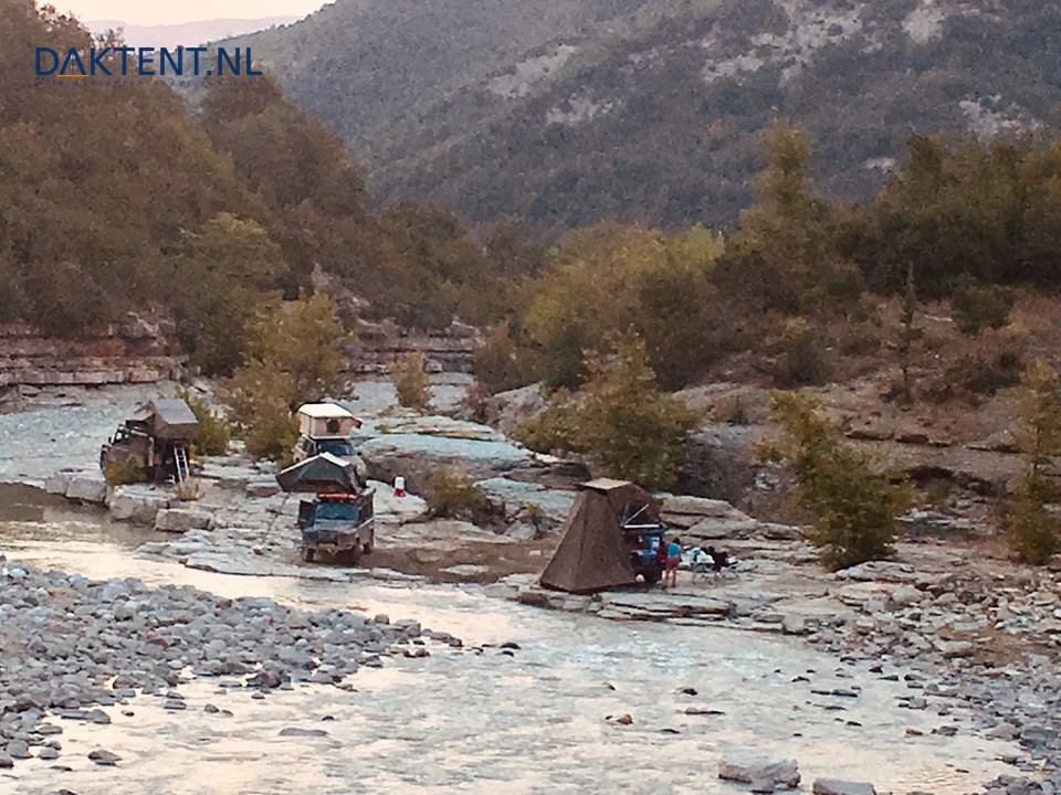 Albanie daktent rivier