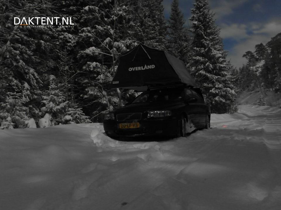 Daktent lapland winterkamperen