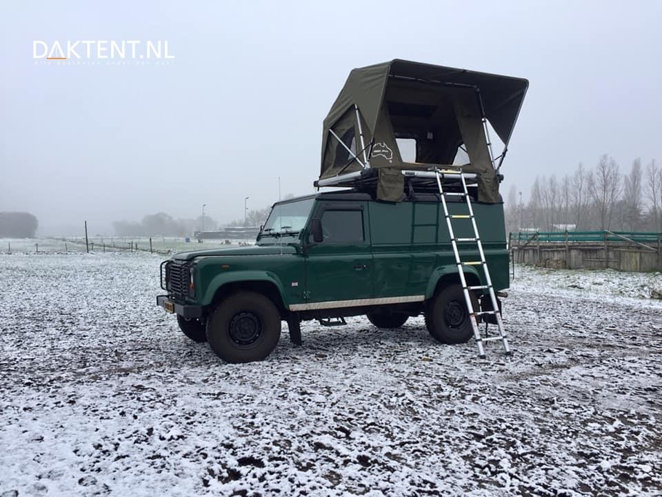 daktent winter kamperen