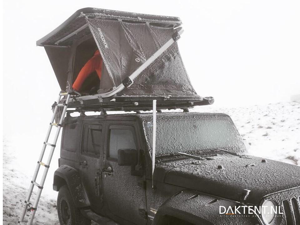 daktent winter kamperen sneeuw Gascoyne Wrangler